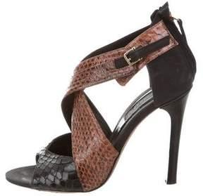 Derek Lam Falyn Snakeskin Sandals