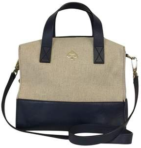 Kate Spade Cream & Navy Canvas Leather Bag - CREAM - STYLE