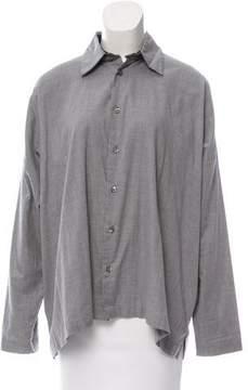 eskandar Oversize Button-Up Top