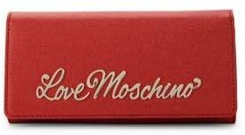 Love Moschino Love Logo Plaque Textured Wallet