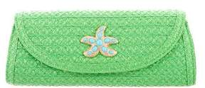 Eric Javits Woven Embellished Convertible Clutch