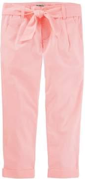 Osh Kosh Oshkosh Bgosh Girls 4-12 Tie Fron Orange Chino Pants