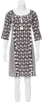 Figue Abstract Print Tassel-Embellished Dress w/ Tags