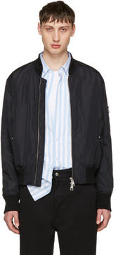 Ami Alexandre Mattiussi Black Zipped Teddy Jacket