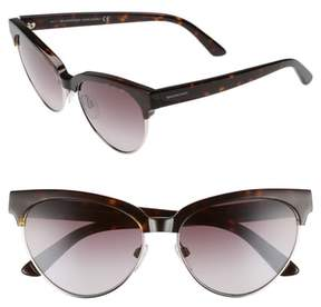 Balenciaga Women's 57Mm Gradient Cat Eye Sunglasses - Dark Havana/ Gradient Burgundy