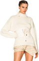 Alexander McQueen Chunky Knit High Neck Sweater in Neutrals,White.