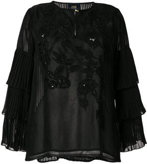 Class Roberto Cavalli sequin embroidered blouse