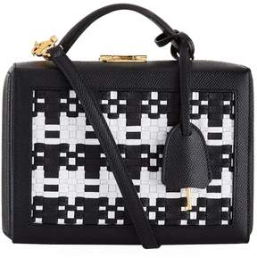 Mark Cross Grace Basket Weave Leather Cross Body Bag