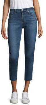 AG Jeans Cropped Mid-Rise Cigarette Jeans