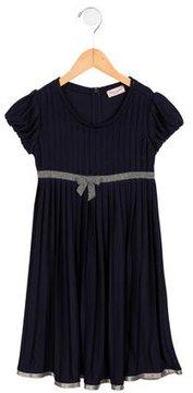 MonnaLisa Girls' Pleated Short Sleeve Dress