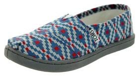 Toms Kids Classic Diamond Woven Casual Shoe.