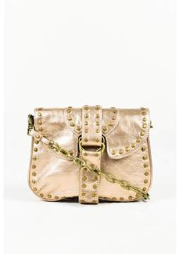Kooba Pre-owned Metallic Gold Studded Chain Link Shoulder Bag.