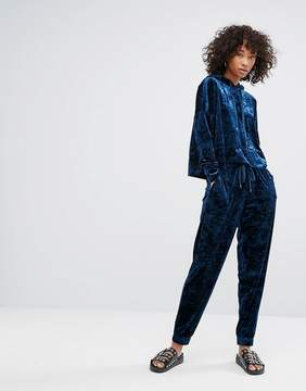 Noisy May Crushed Velvet Cuff Trackpant