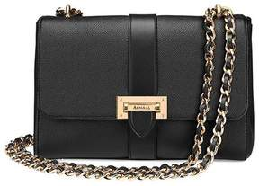 Aspinal of London Large Lottie Bag In Black Pebble