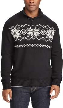 Chaps Big & Tall Classic-Fit Fairisle Mockneck Sweater