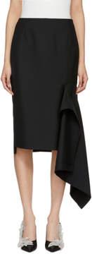Balenciaga Black Side Godet Skirt