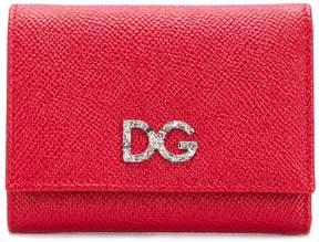 Dolce & Gabbana Diamante logo pebbled leather wallet