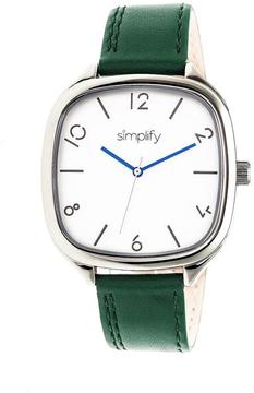 Simplify The 3500 Collection SIM3504 Square-Shaped Silver Analog Watch