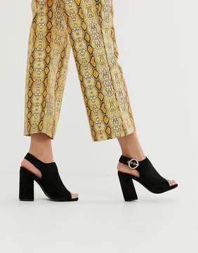 Glamorous black block heel shoe boots