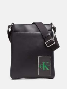 Calvin Klein monogram logo natural grain flat pack