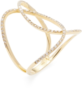 Amrapali Women's 18K Yellow Gold & 0.36 Total Ct. Diamond Contemporary Infinity Ring