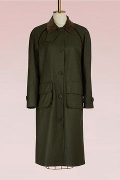 Stella Jean Cotton hunting trench with velvet collar
