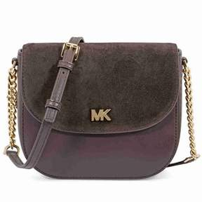 Michael Kors Leather and Suede Saddle Bag