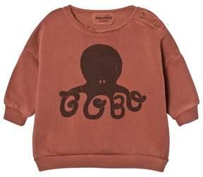 Bobo Choses Muted Rust Octopus Print Sweatshirt