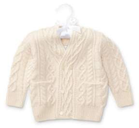 Ralph Lauren Aran Merino-Cashmere Cardigan Cream 6M