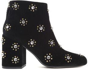Senso Jamie Embellished Velvet Ankle Boots
