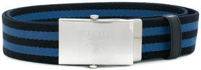 Prada striped buckle belt