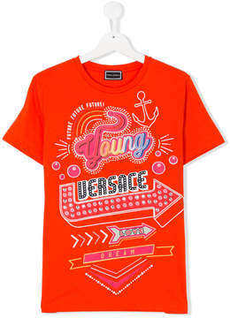 Versace TEEN printed T-shirt