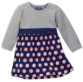 Toobydoo Solid Top Dots Bottom Dress (Baby & Toddler Girls)