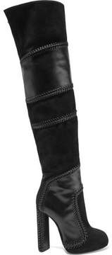 Tom Ford Suede And Leather Thigh Boots