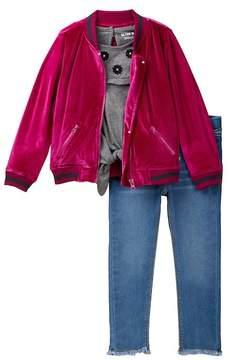 Hudson Velvet Bomber Jacket 3-Piece Set (Toddler Girls)