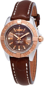 Breitling Galactic 32 Chronometer Bronze Dial Ladies Watch