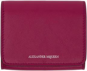 Alexander McQueen Pink Fold Over Business Card Holder