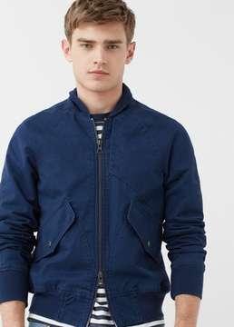 Mango Outlet Pocket cotton bomber jacket