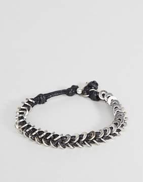 ICON BRAND Wax Cord Bracelet In Black