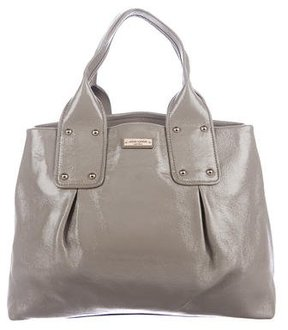 Kate Spade Pleated Patent Tote - GREY - STYLE