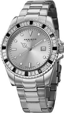 Akribos XXIV Silver Dial Stainless Steel Unisex Watch AK702SS