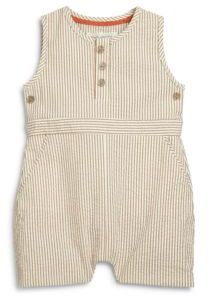 Marie Chantal Baby's Seersucker Romper