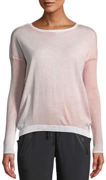 Blanc Noir Boyfriend Crewneck Long-Sleeve Pullover Sweater
