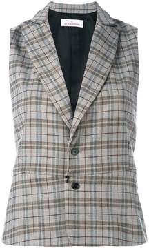 A.F.Vandevorst checked sleeveless blazer