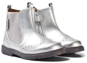 Start Rite Start-rite Silver Patent and Glitter Brogue Boots