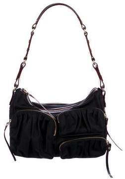 MZ Wallace Leather-Trimmed Nylon Zip Shoulder Bag