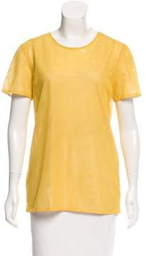 Calvin Klein Collection Short Sleeve Mesh Top w/ Tags