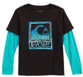Quiksilver Boy's Peaks Layered Long Sleeve T-Shirt