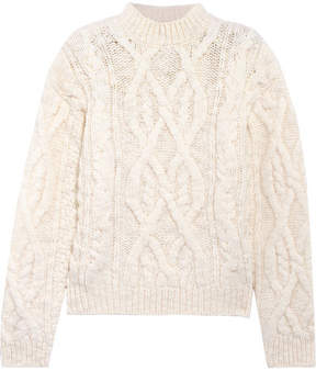 Acne Studios Edyta Cable-knit Wool Sweater - Cream