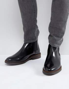 Zign Shoes Smart Leather Chelsea Boots In Black